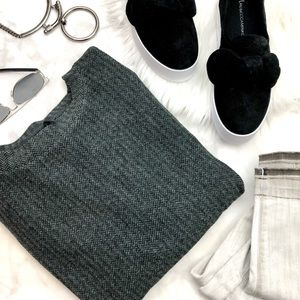 Lou & Grey Cozy Herringbone Sweatshirt